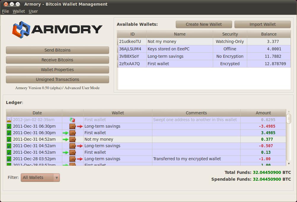 Armory Bitcoin Client