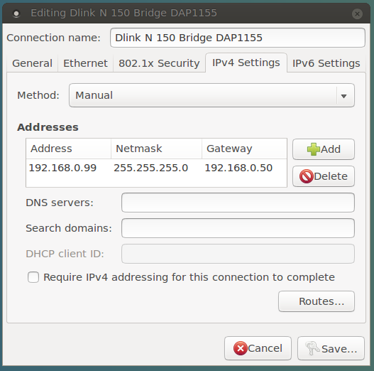 Making a manual network connection for D-Link N150 - 03