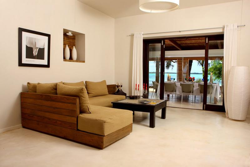 Mauritius Lilot Villa - the living room - © L'ilot