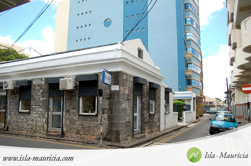 Mauritius Tourism Authority located behind that blue building close to the barracks in Port-Louis, Mauritius