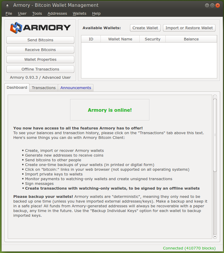 Armory - is online