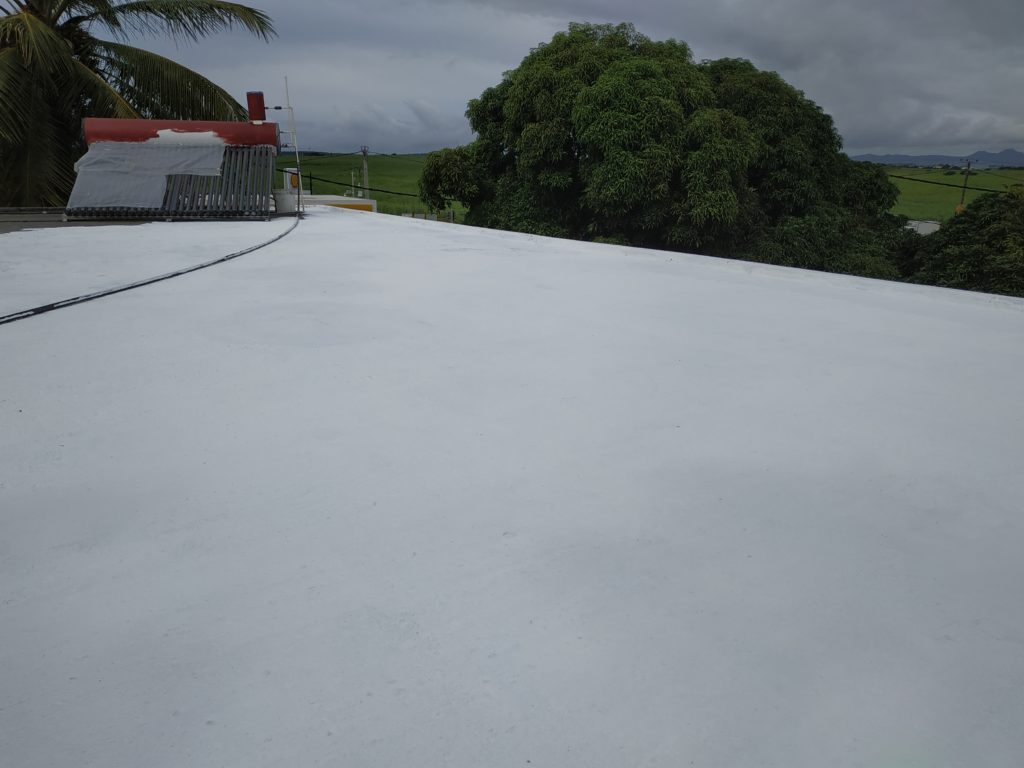 Roof covered with Roof Coat from Permoglaze