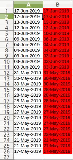 Delete Dates Column