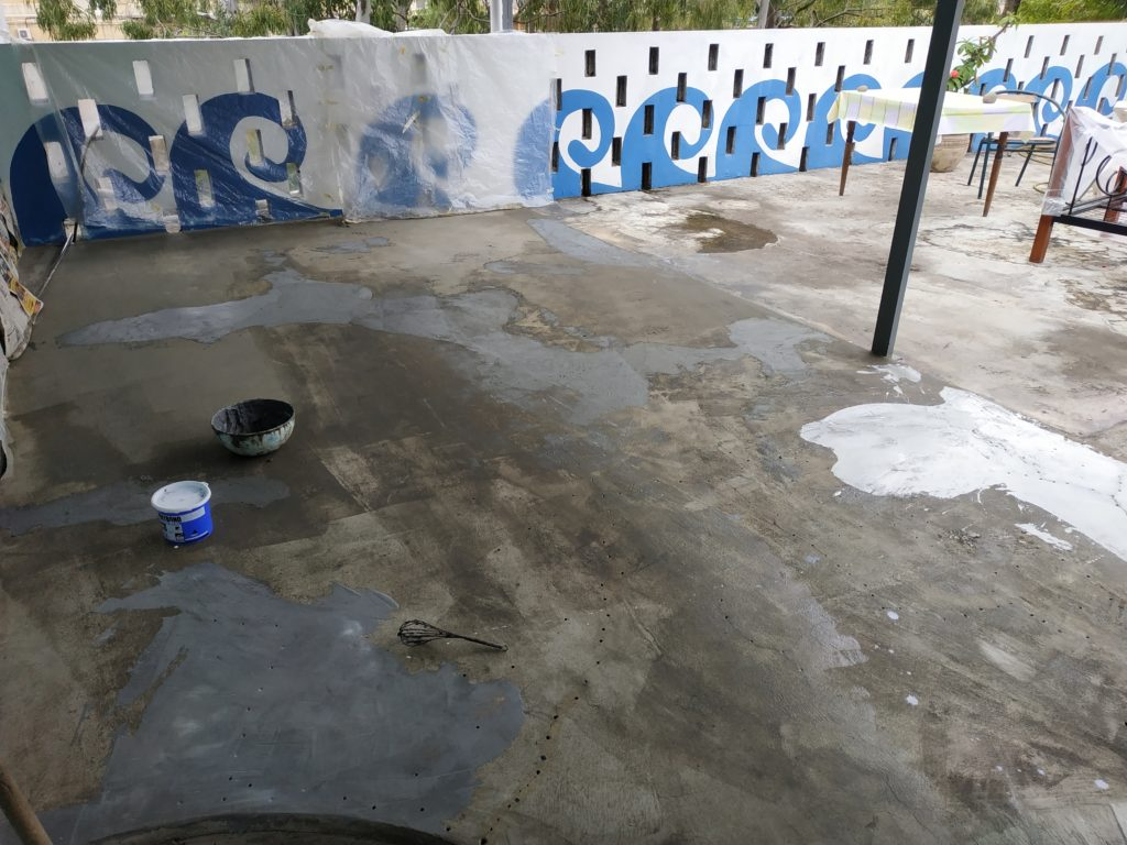 Fixing Cracks on Back Terrace Project 2 - Permofix